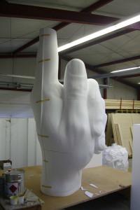 Styropor-Skulptur Detail