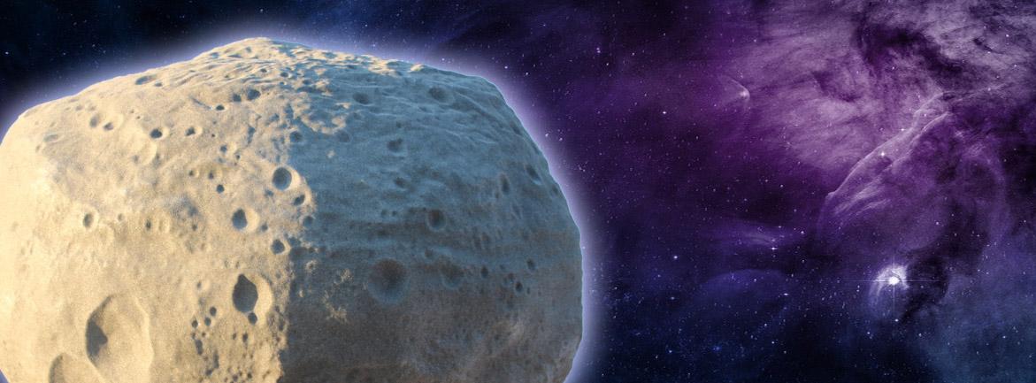 Banner Asteroid aus Kunststoff