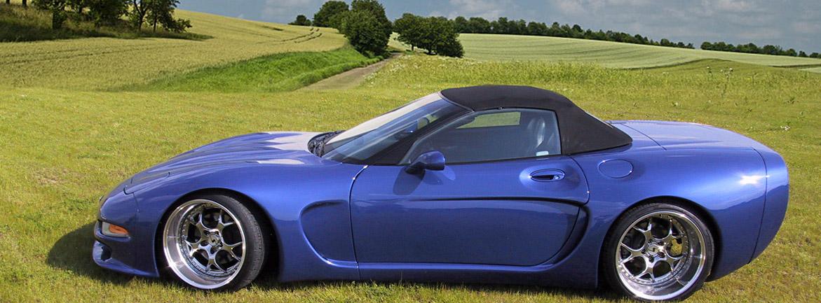 Banner Corvette blau