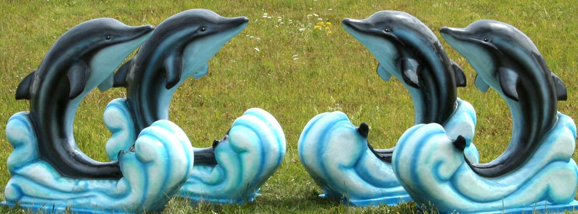 Banner GFK Figur Delfine