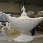 Styropor Bearbeitung Aladin Lampe