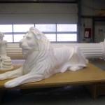 Styropor Skulptur Löwe Nelson