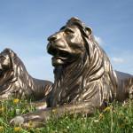 Styropor Skulpturen Löwen