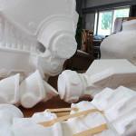 Styropor Bearbeitung Panzerhund Teile