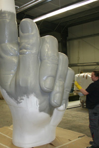 Laminieren eines Riesenfingers