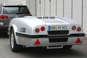 Volke-Bremsanhänger hinten