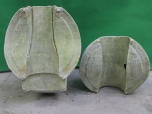 Zweiteilige Form von hinten