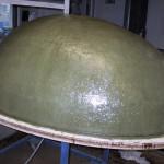 Ein übergrosses GFK Ei-Modell, laminiert