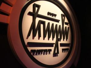 Logo aus Styropor mit Heissdraht geschnitten