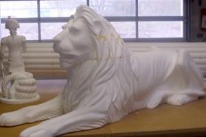Löwe aus Styropor