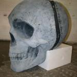 Styropor Schädel