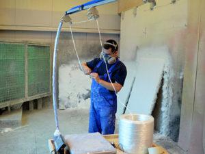 Glasroving - Vorbereitung