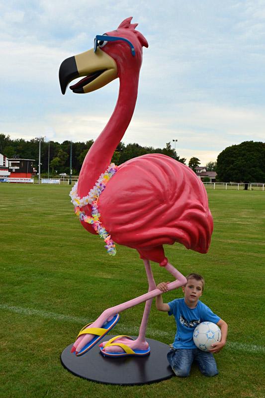 Werbefigur Flamingo
