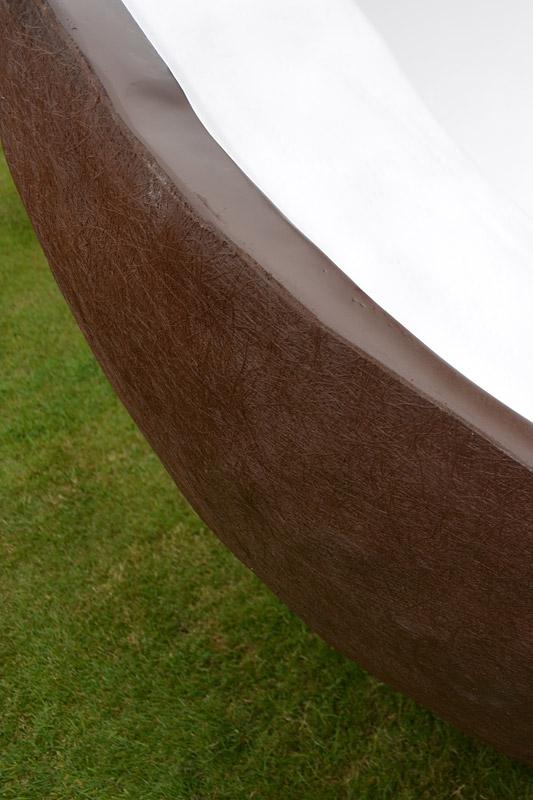 Kokosnuss - Detail der Oberfläche