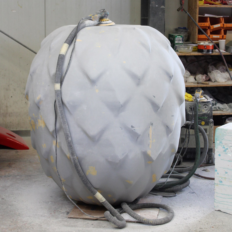 Bauteil – fertig laminiert, gespachtelt und gefüllert