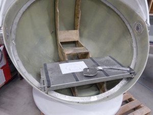 Montage Sitzfläche aus Metall