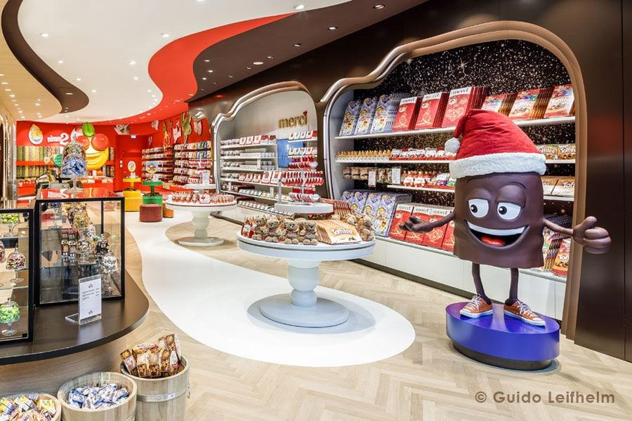 Schoko Dickmann als Blickfang im Süßigkeiten Paradies