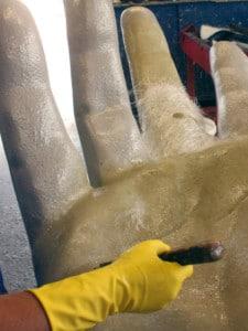 Laminieren der Riesenhand