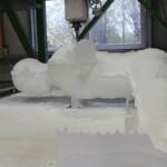 Fräsen einer Figur aus Styropor