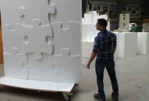 Riesen Puzzel aus Styropor