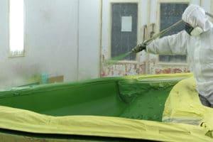 Lackierkabine - Gelcoat spritzen