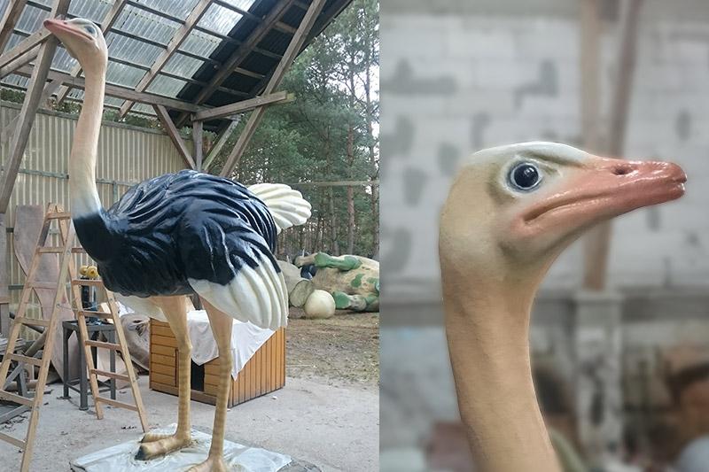 Strauß Skulptur Airbrush