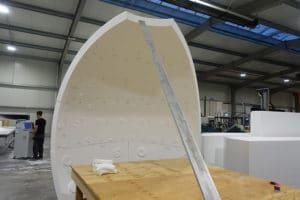 Produktionsform aus Styropor wird hergestellt
