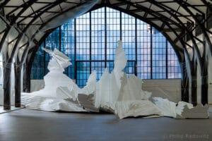 Skulptur vor dem Bemalen, Foto: Philip Radowitz