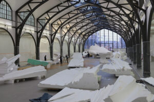 Anlieferung am Hamburger Bahnhof – Museum, Photo: Studio Katharina Grosse