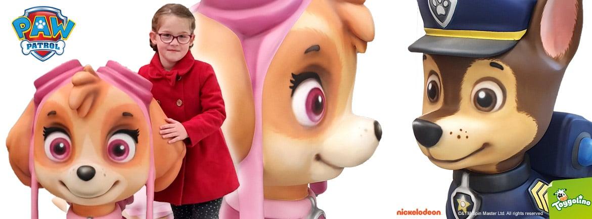 Paw Patrol Figuren aus GFK - Werbefiguren