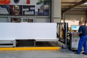 6 Achsen CNC-Heißdraht- Schneidemaschine mit Bearbeitungslängen bis 5 m für Styropor