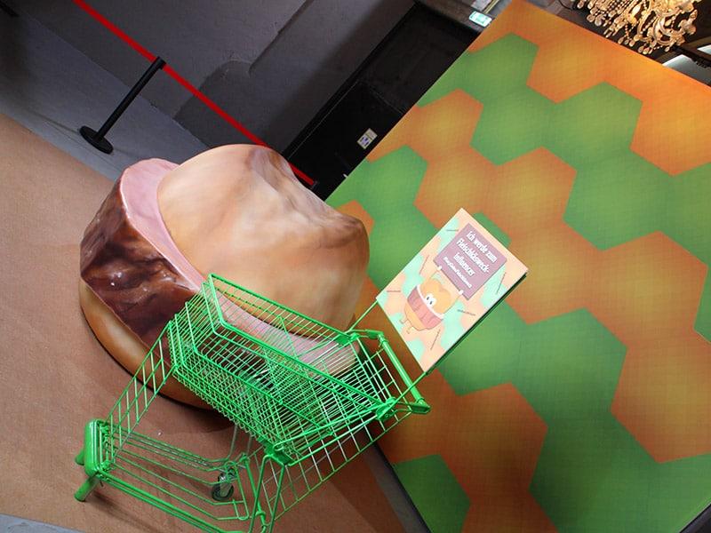 Das Fleischkäsebrötchen in der Pop Up Galery